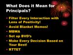 what does it mean for principals