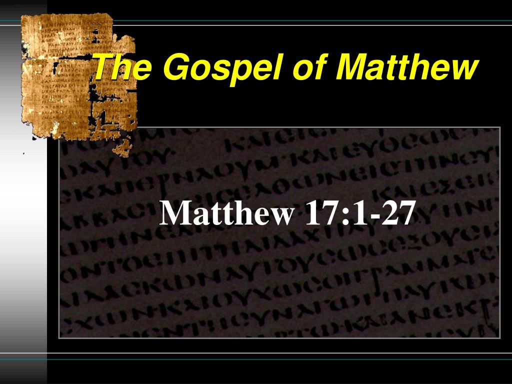 the gospel of matthew l.