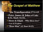 the gospel of matthew3