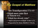 the gospel of matthew4