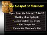 the gospel of matthew5