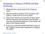 comparison of treasury strips and note continued