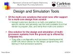 design and simulation tools