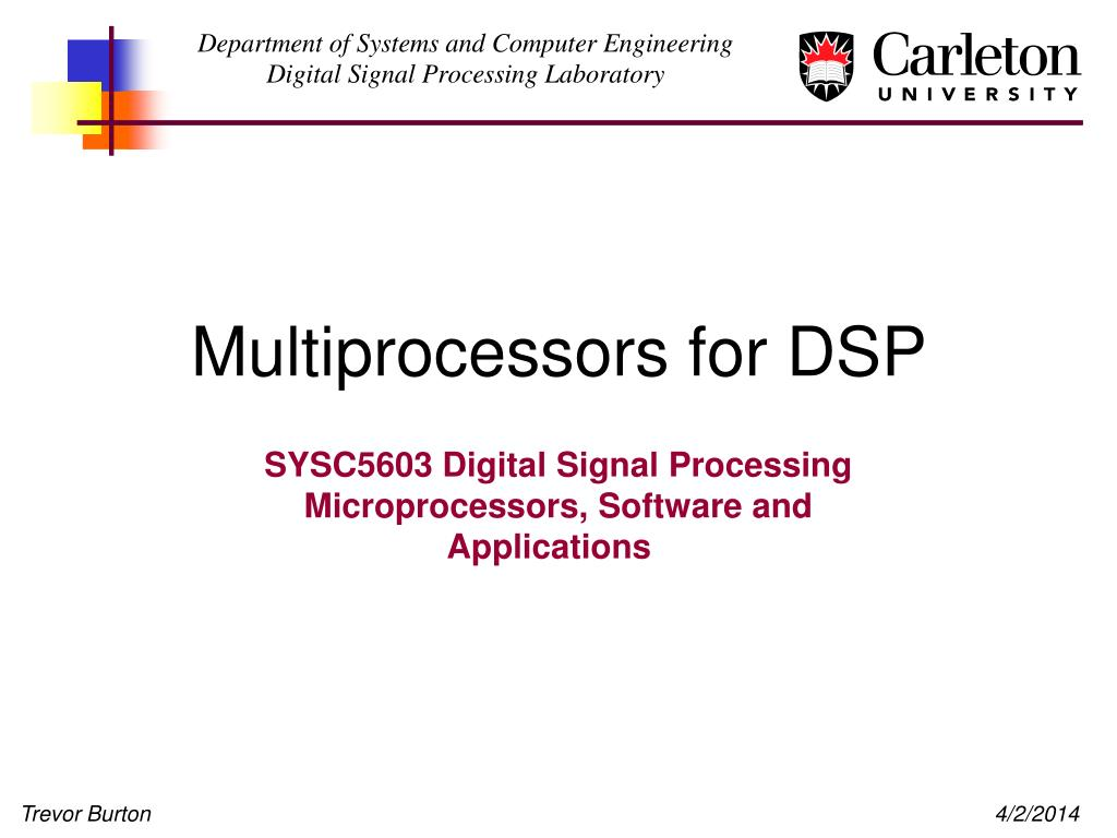 multiprocessors for dsp l.