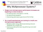 why multiprocessor systems