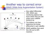 another way to correct error waas wide area augmentation system
