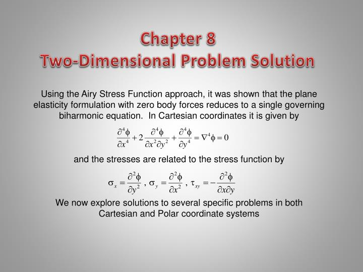chapter 8 two dimensional problem solution n.