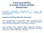 interoperability in public safety mobile networks