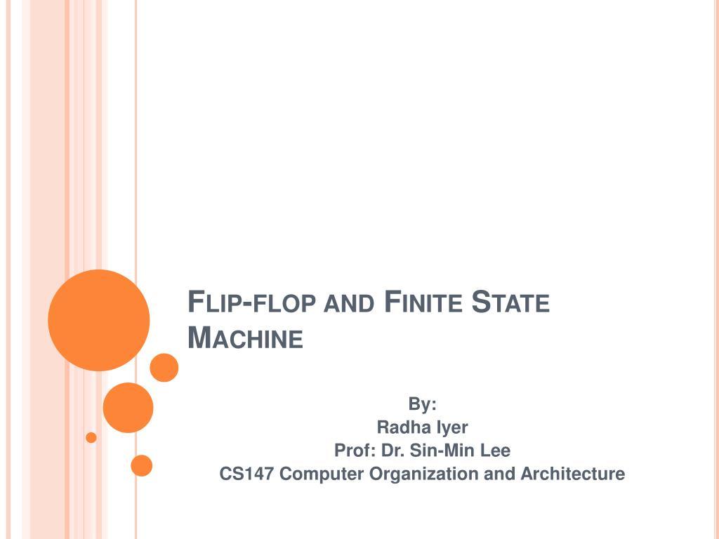 flip flop and finite state machine l.