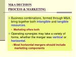 m a decision process marketing