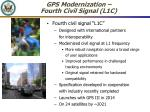 gps modernization fourth civil signal l1c