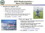 gps modernization new civil signals