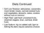 diets continued25