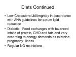diets continued27