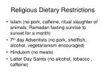 religious dietary restrictions