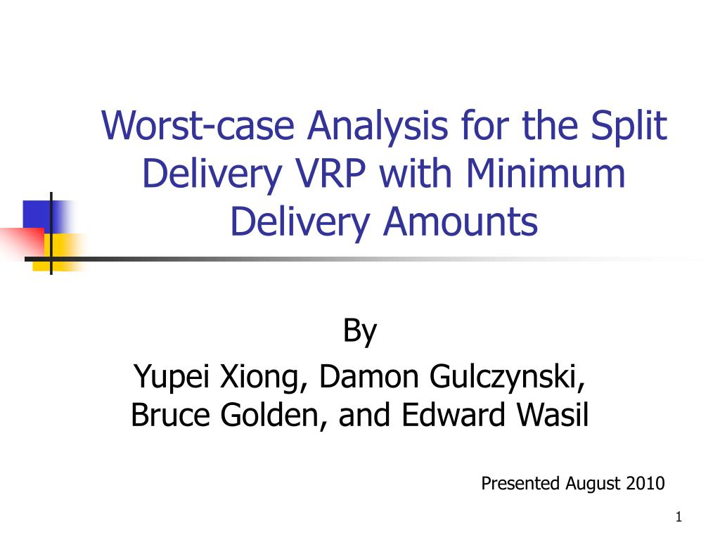 worst case analysis for the split delivery vrp with minimum delivery amounts l.