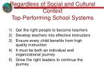regardless of social and cultural context top performing school systems