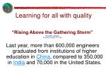 rising above the gathering storm william j broad published october 13 2005