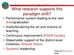 what research supports this paradigm shift
