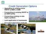 credit generation options