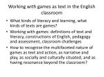 working with games as text in the english classroom