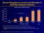 serum phosphorus levels and mortality in ckd non dialysis patients