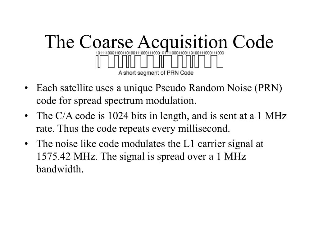 The Coarse Acquisition Code