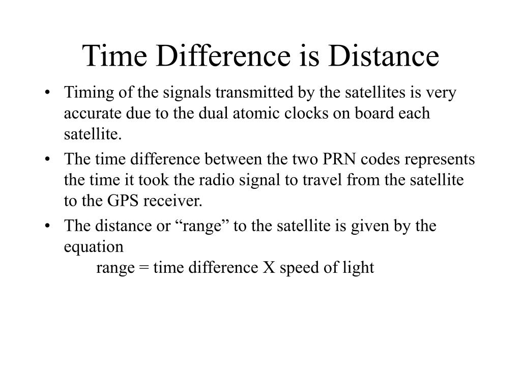 Time Difference is Distance