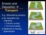 erosion and deposition transport