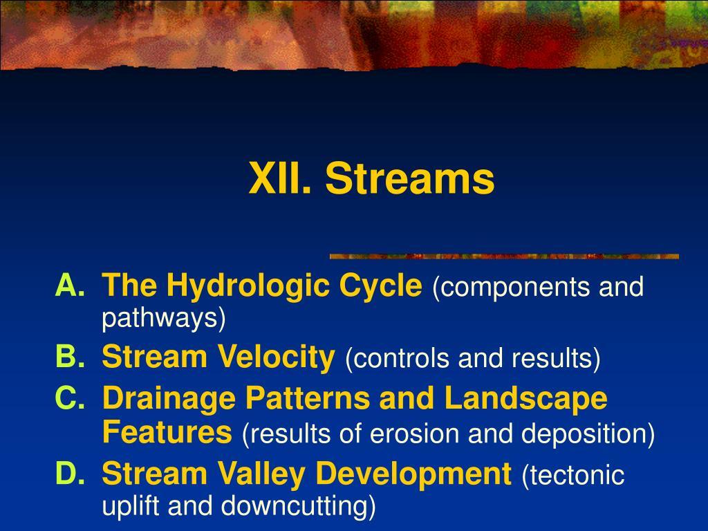 xii streams l.