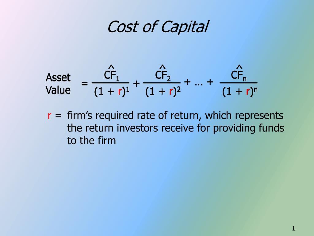 cost of capital l.