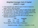 weighted average cost of capital wacc logic