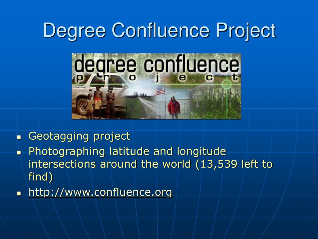 Degree Confluence Project