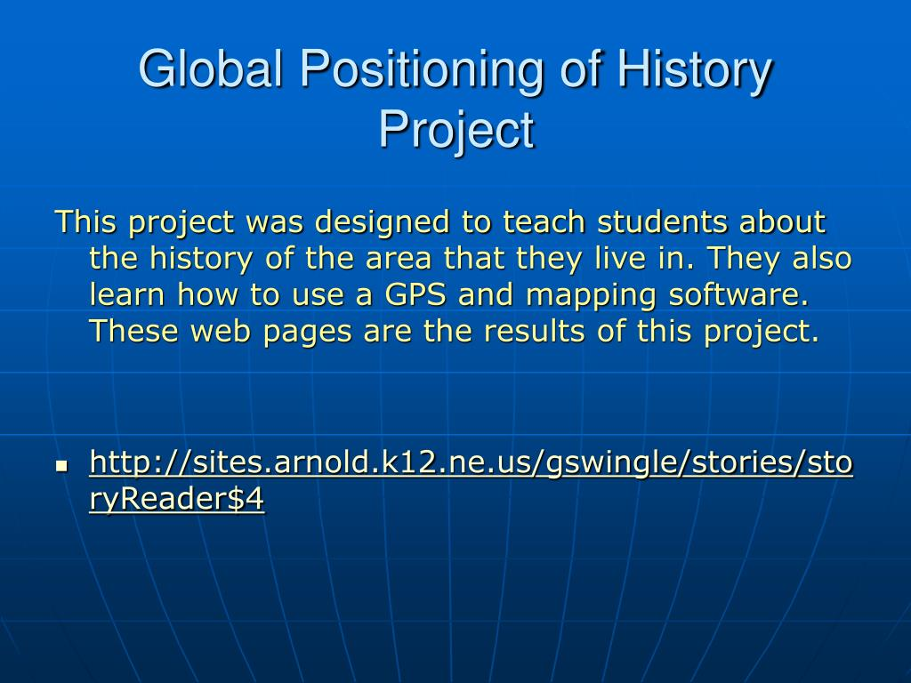 Global Positioning of History Project