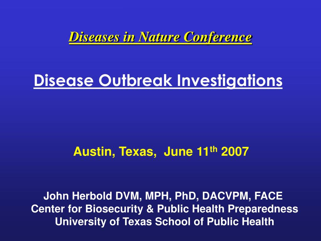diseases in nature conference l.