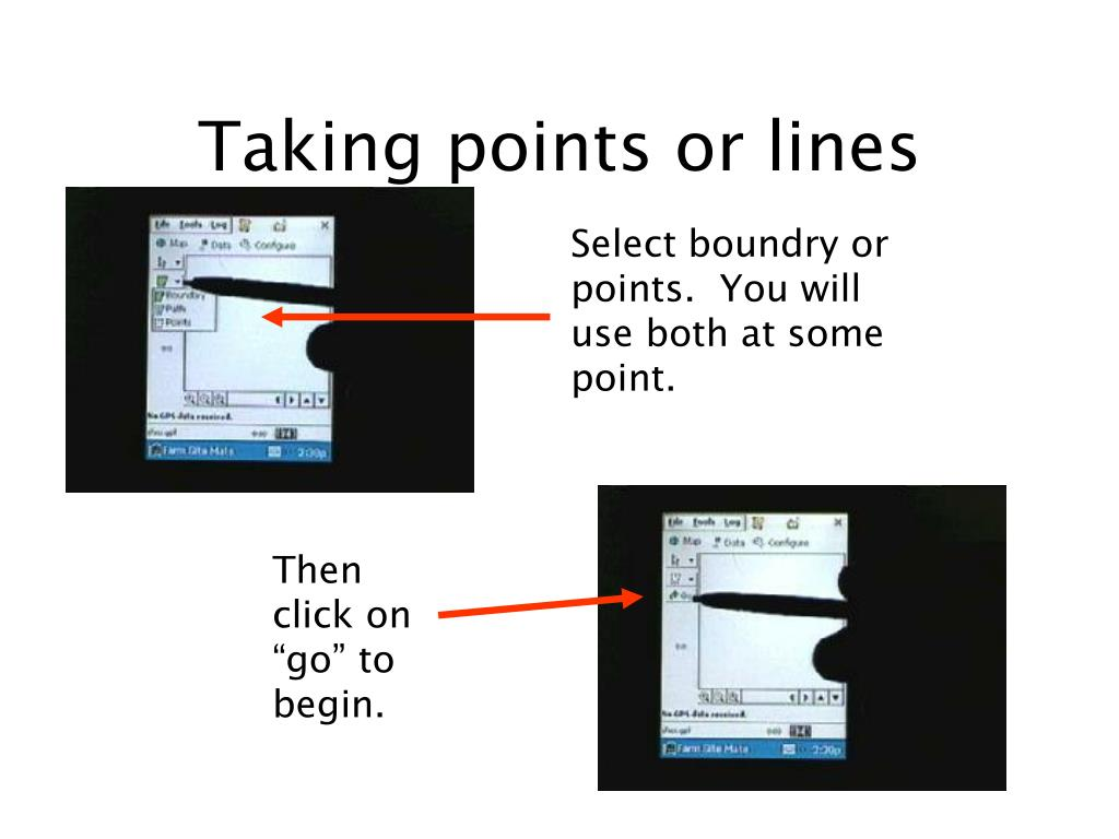 Taking points or lines