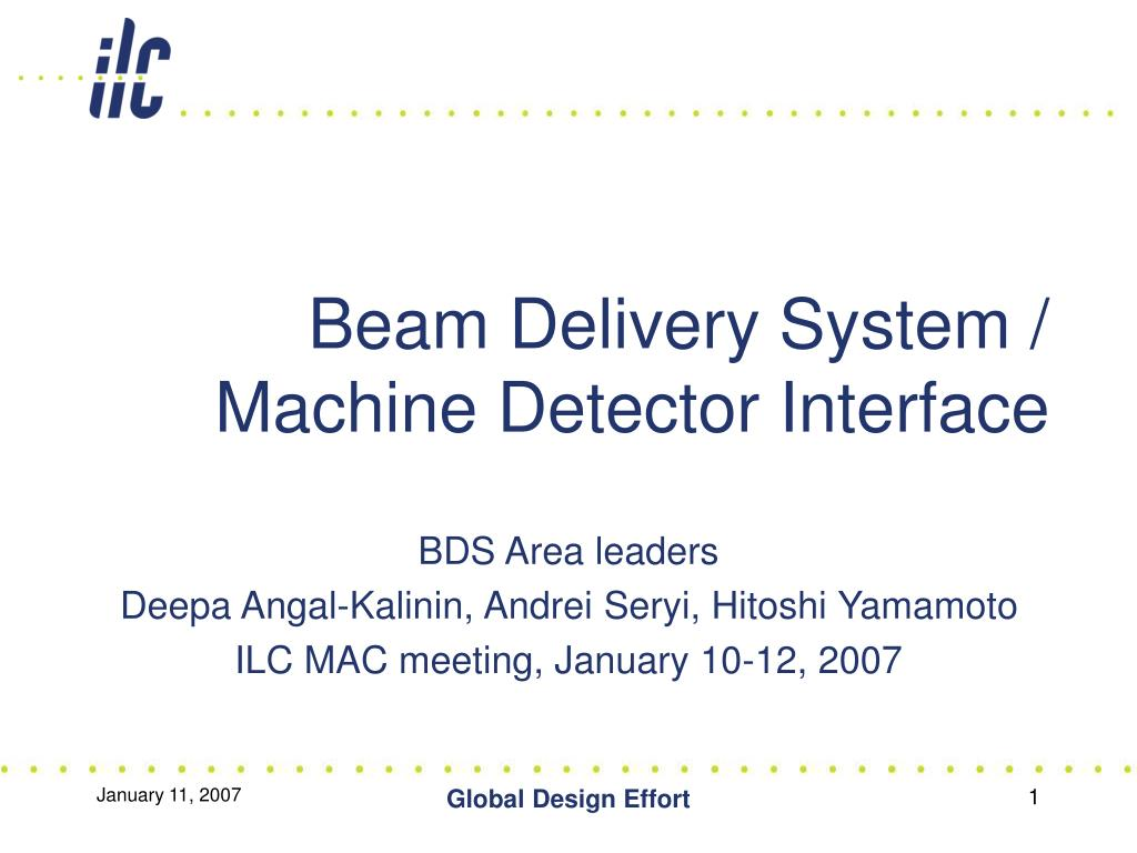beam delivery system machine detector interface l.