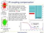 ir coupling compensation