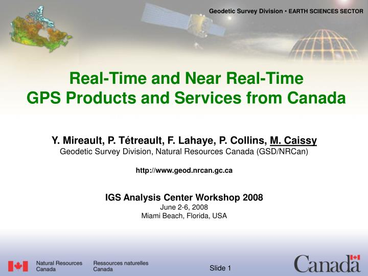 real time and near real time gps products and services from canada n.