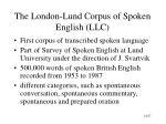 the london lund corpus of spoken english llc