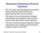 business to business reverse auctions