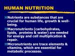 human nutrition