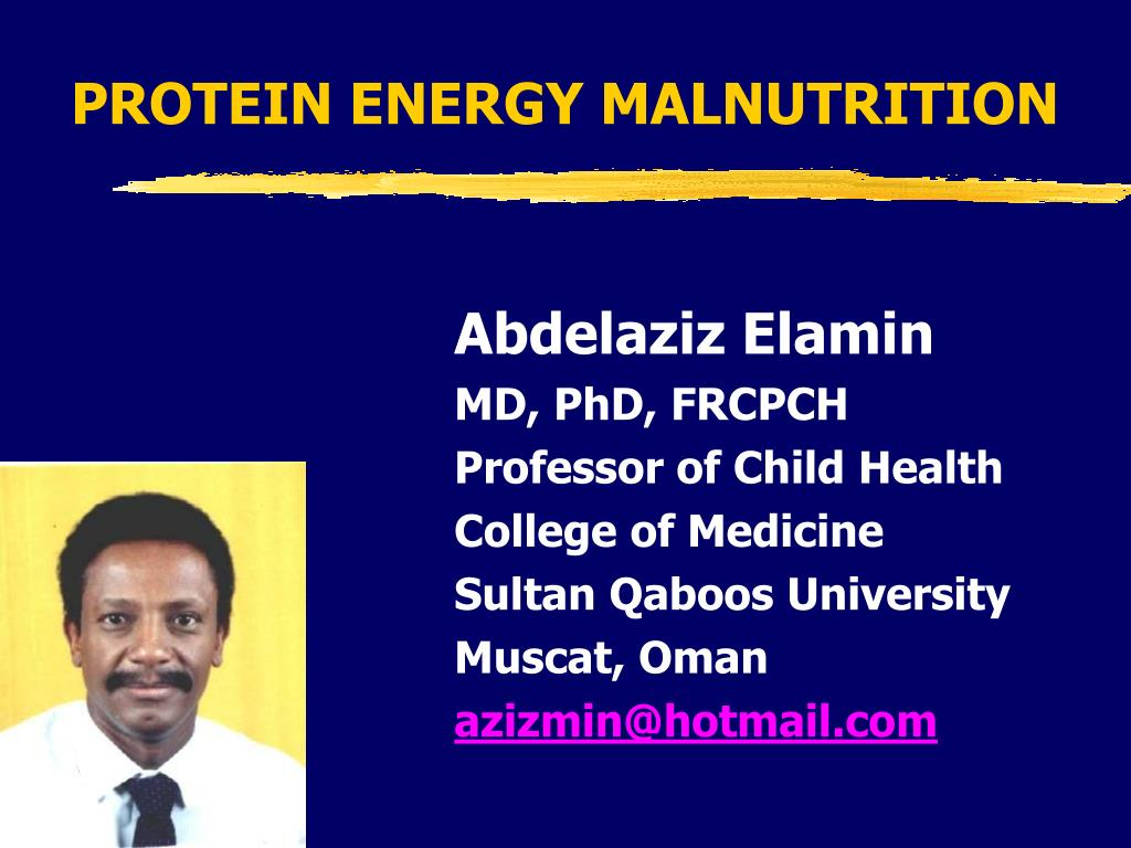 protein energy malnutrition l.
