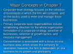 major concepts in chapter 7