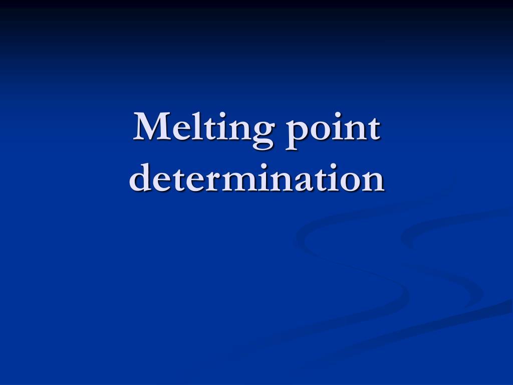 melting point determination l.