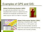 examples of gps and gis