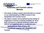 hospitality and tourism labour markets