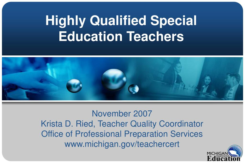 highly qualified special education teachers l.