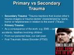 primary vs secondary trauma