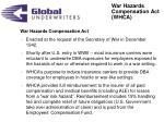 war hazards compensation act whca